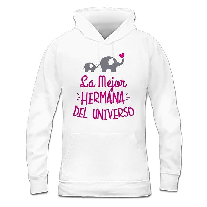 Sudadera con capucha de mujer La mejor hermana del universo by Shirtcity: Amazon.es: Ropa y accesorios