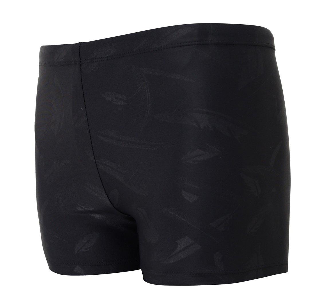 Vocni Men's Compression Quick Dry Rapid Swim Splice Square Leg Short Jammer Swimsuit,Black_03,US M - Asian Tag 2XL(Waist:31'' - 35'') by Vocni