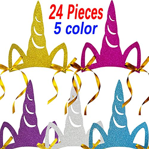 Multiple Colors Unicorn Party Hats Unicorn Party Supplies Party Decorations (24) -