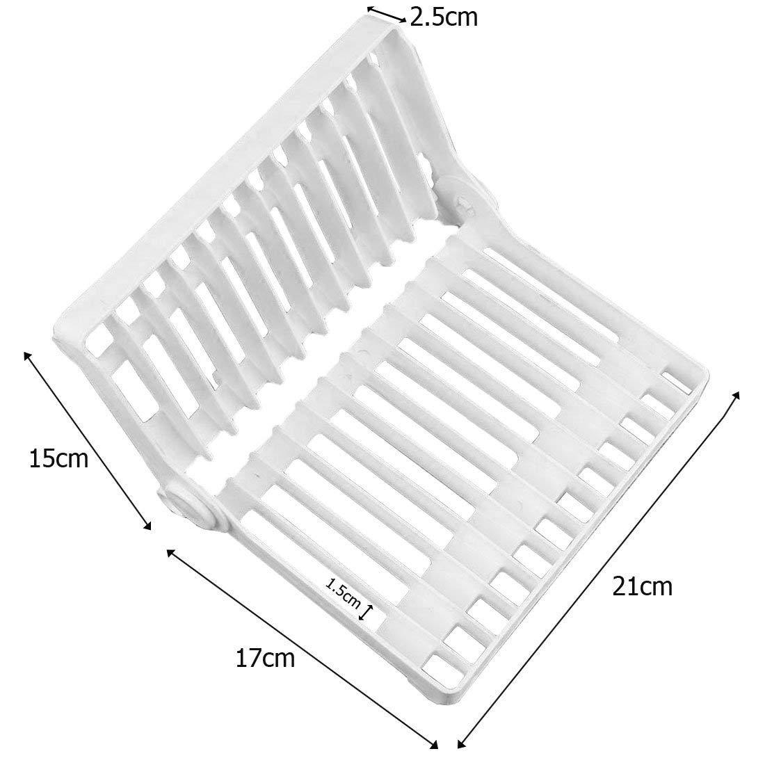 JJOnlineStore - Scolapiatti pieghevole multiuso, per posate e piatti, per tenere il lavello asciutto, pulito e igienico, colore: bianco
