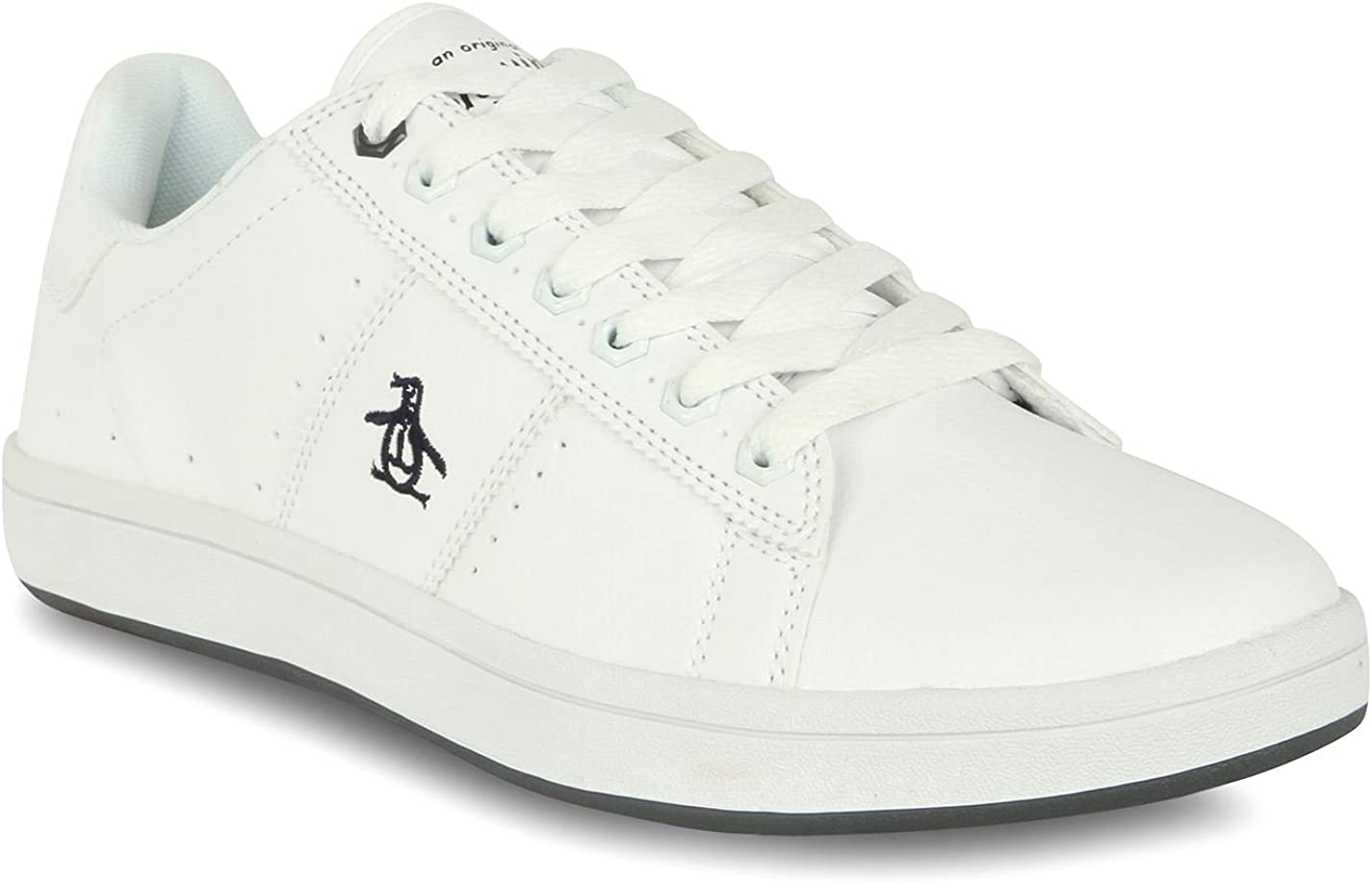 New MENS PENGUIN WHITE PLANE SYNTHETIC Sneakers Retro