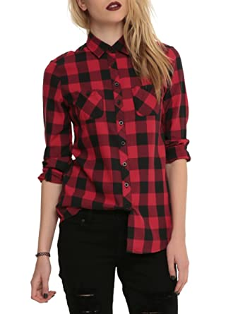 There sexy red plaid women girls hot