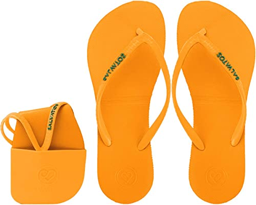 Salvatos Foldable Flip Flops On The Go. Flexible, Compact, Comfortable for Everyday