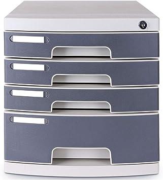 Mueble Archivador Caja de Almacenamiento de Datos de clasificación de Archivos metálicos de Escritorio A4 de 4 cajones Gris 30.2X39.5X32.5cm Caja de Almacenamiento: Amazon.es: Electrónica
