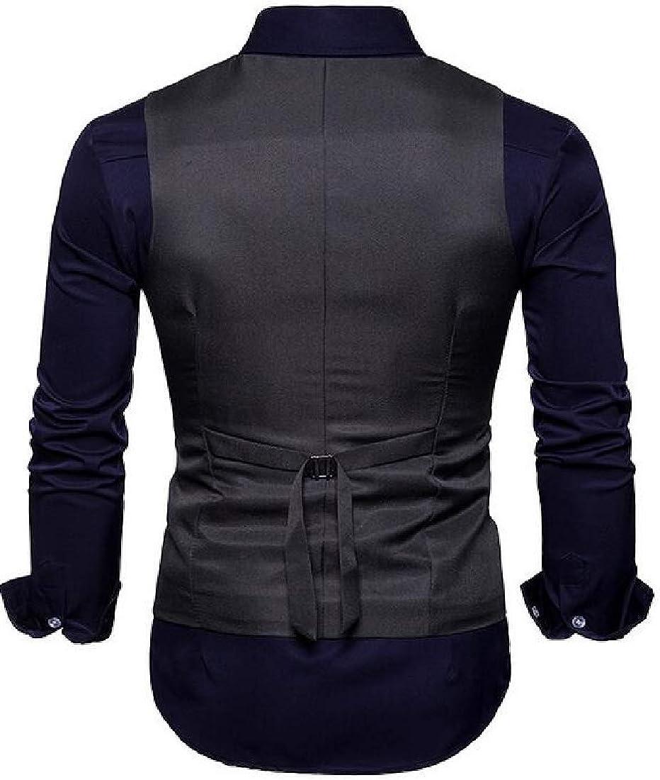 JYZJ Mens Double Breasted Business Sleeveless Slim Dress Suit Vest Waistcoat