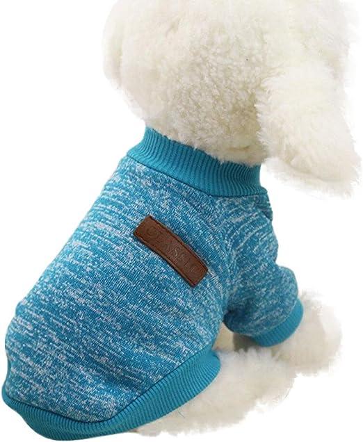 MEIbax Hanomes Ropa para Mascotas de Invierno Perros y Gatos Caliente Chaqueta Sudadera Suéter Clásico Jersey de Forro Polar pequeños medianos y Grandes: Amazon.es: Hogar