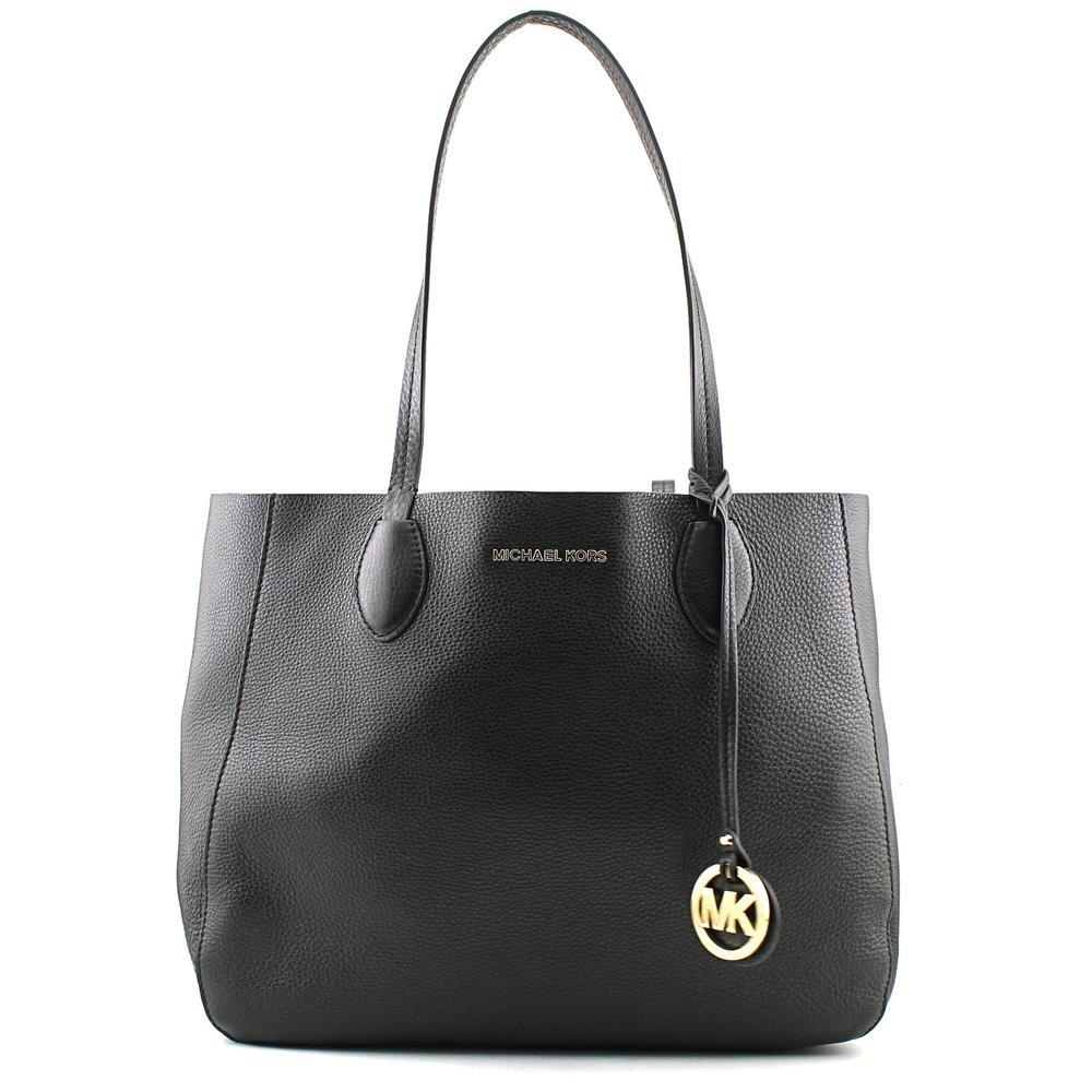 MICHAEL Michael Kors Mae Large East/West Tote Reversible Black/Luggage
