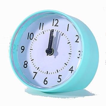 LMSHM Despertador Portátil Lindo Mini Reloj Despertador De Dibujos Animados Número Redondo Escritorio Mesa Reloj Digital