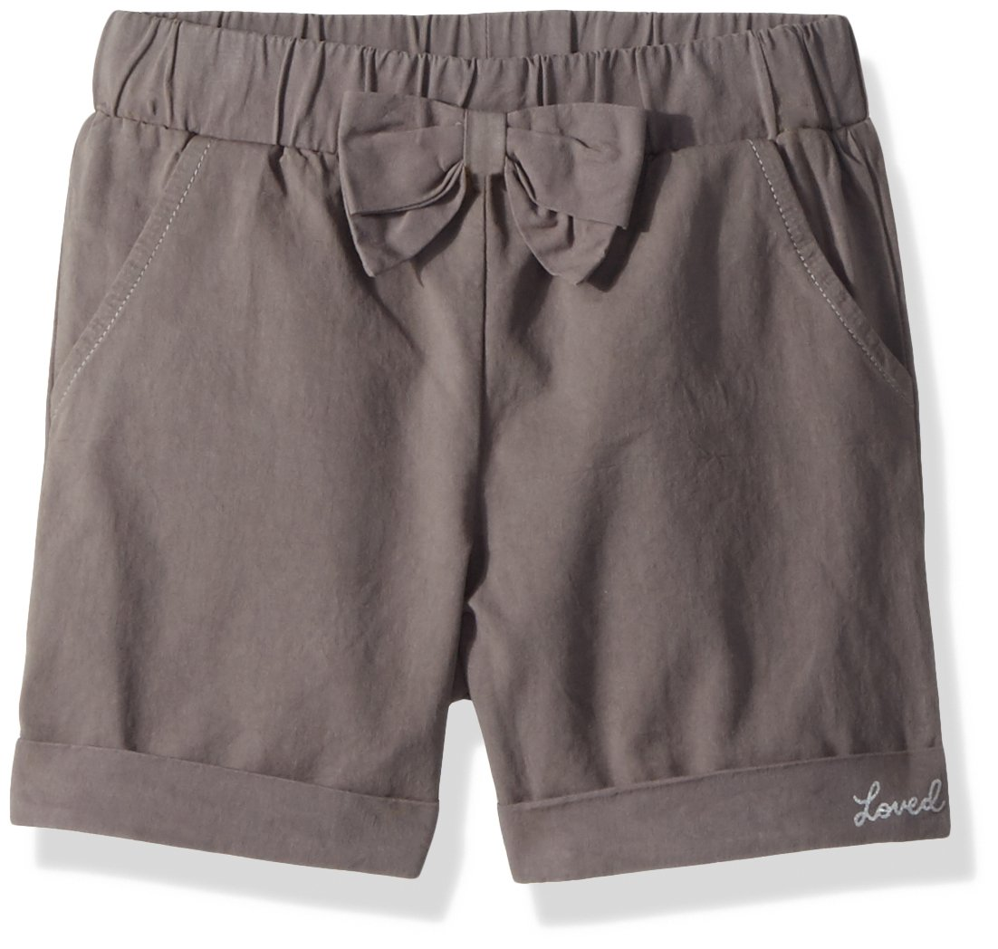 Robeez Toddler Girls' Woven Shorts, Charcoal, 24 Months