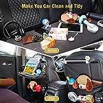 Tsumbay Car Backseat Organiser,Car Organiser with Foldable Tray Table,PU Leather Car Tidy Organiser with 9 Pockets,Car…