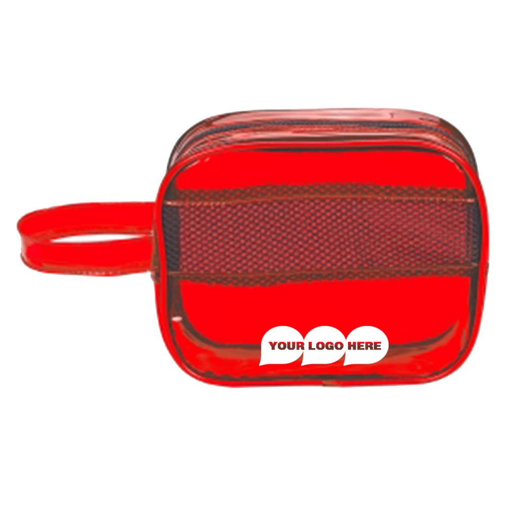 Aura Toiletry Bag - 100 Quantity - $2.89 Each - PROMOTIONAL PRODUCT/BULK/BRANDED with YOUR LOGO/CUSTOMIZED by CloseoutPromo