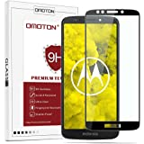 OMOTON Compatible For Moto G6 Play Screen Protector- Full Coverage Tempered Glass Screen Protector - [3D Round Edge] [9H Hardness] [Crystal Clear] [Scratch Resist], Black