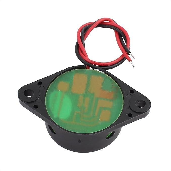 eDealMax DC 3-24V 30 mm x 15 mm 2-Wired continua activa la alarma electrónica zumbador Negro - - Amazon.com