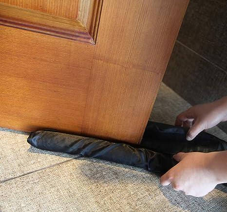 protecci/ón de ahorro de energ/ía -gezi para Aislamiento y protecci/ón contra Corrientes de Aire y Ruido Burlete bajo puerta doble puerta de 80-96.5cm de la placa de sellado inferior insonorizado