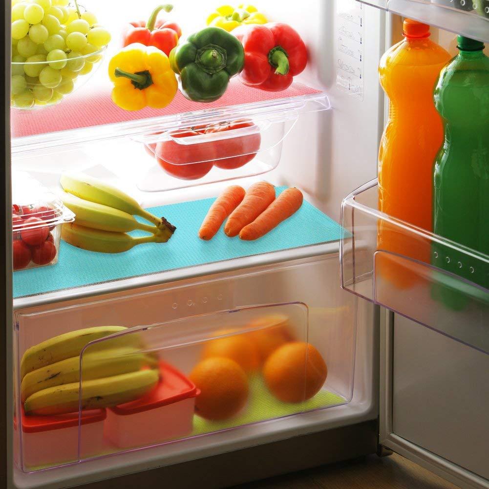 Refrigerator Liners Washable Refrigerator Mats Kitchen Silicone Refrigerator Pads Place Mats 5PCS//Set