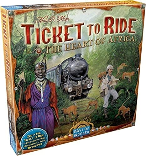 Map Of Africa Games.Amazon Com Ticket To Ride Africa Map Collection Three Toys Games