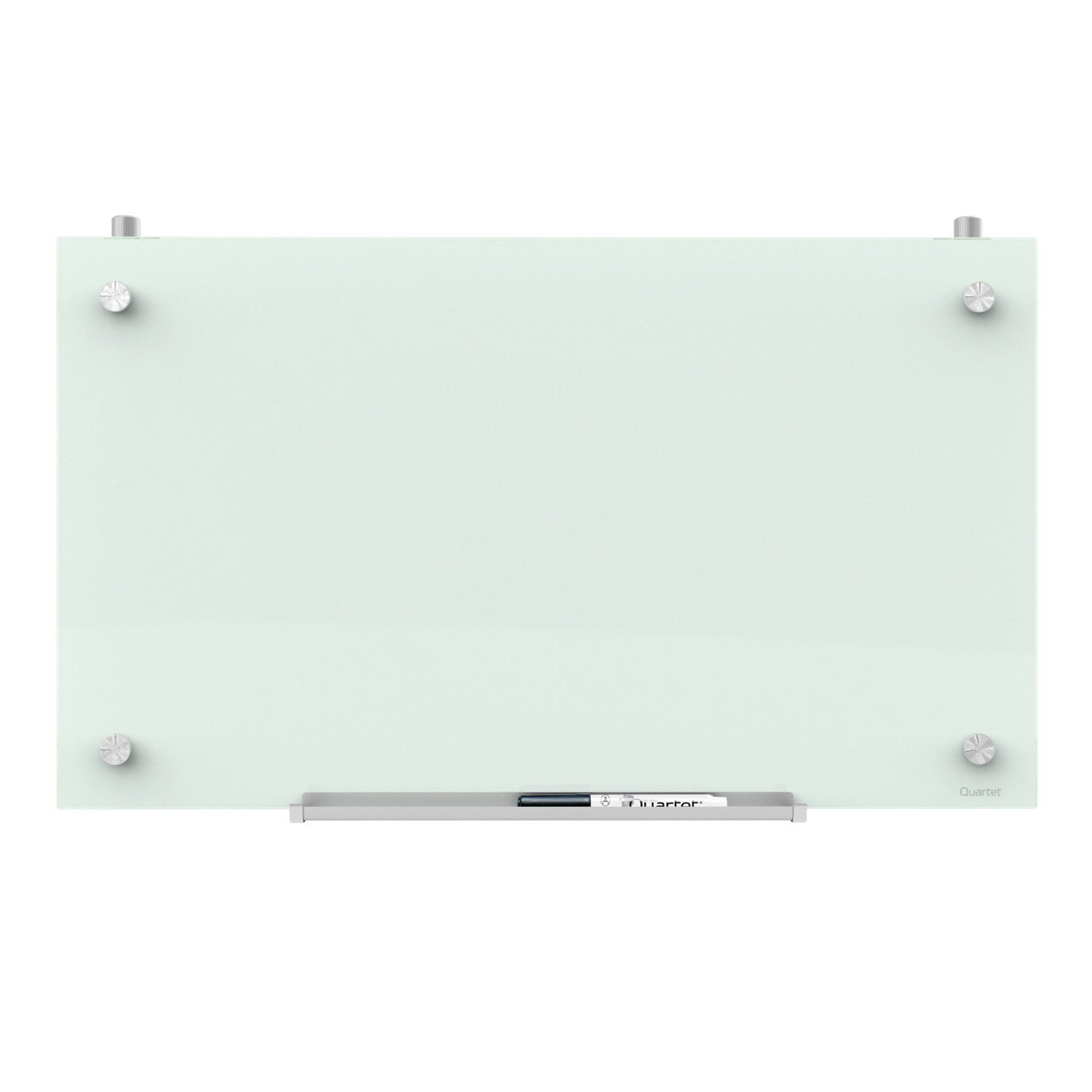 "Quartet Magnetic Whiteboard for Cubicle Walls, Glass White Board, Dry Erase Board, 30"" x 18"", Workspace, Office, White Surface, Infinity (PDEC1830)"