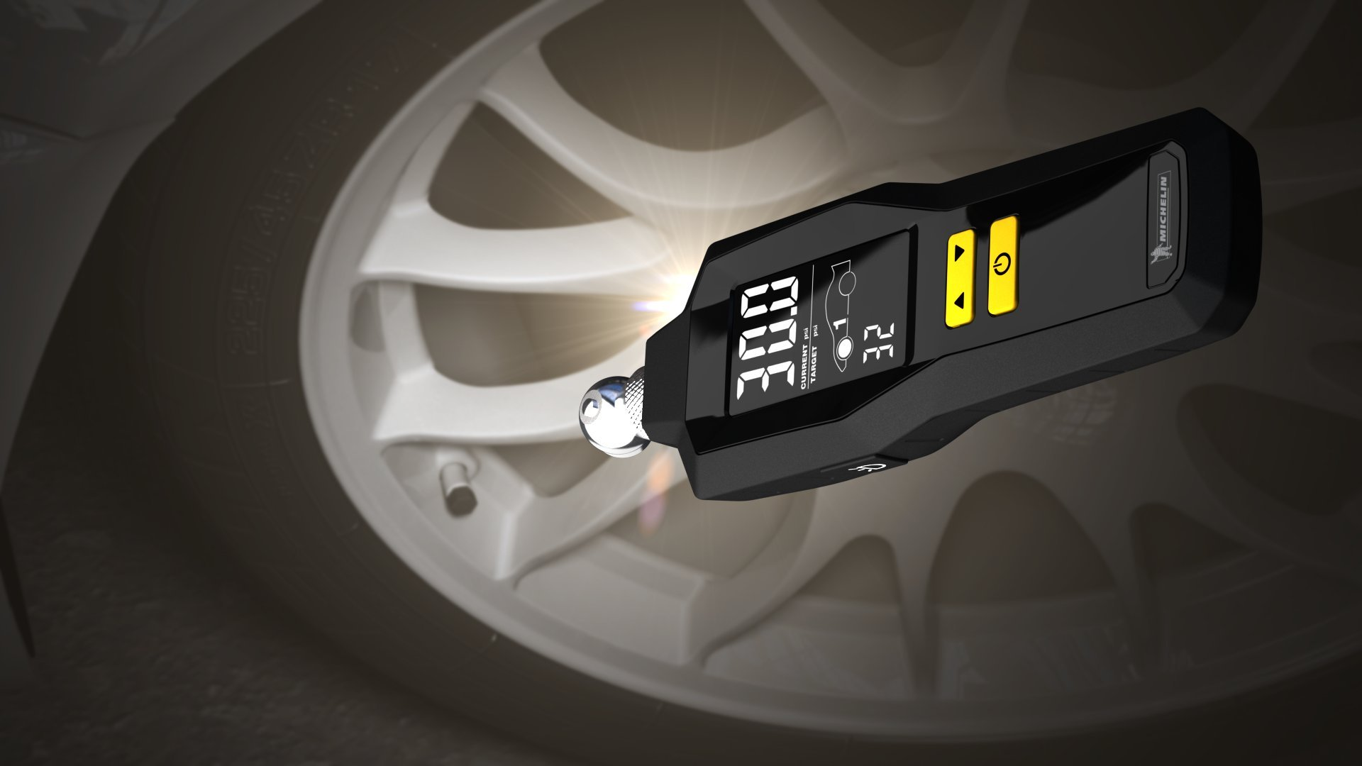 MICHELIN 12295 Programmable Dual Car Digital Tire Pressure Gauge (with Flashlight and Bleed Valve) by MICHELIN (Image #5)
