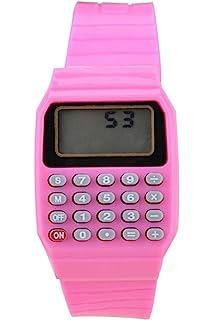 Reloj - SODIAL(R)Reloj electronico de silicona de multifuncion de calculadora para ninos