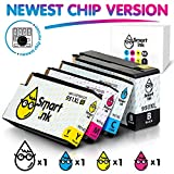 Smart Ink Compatible Ink Cartridge Replacement for HP 951XL 950XL 951 XL 950 High Yield (Black,Cyan,Magenta,Yellow, 4 Pack Combo) Officejet Pro 8100 8600 8610 8620 8630 8640 8660 8615 8625 251DW 276DW