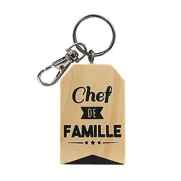 Llavero Madera Chef de Familia: Amazon.es: Equipaje