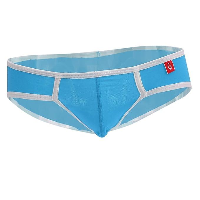 Baoblaze Calzoncillos Modales Suave U Style Hombre Bolsa Abultada Entrenamiento Gimnasio Atlético Ropa Interior - azul