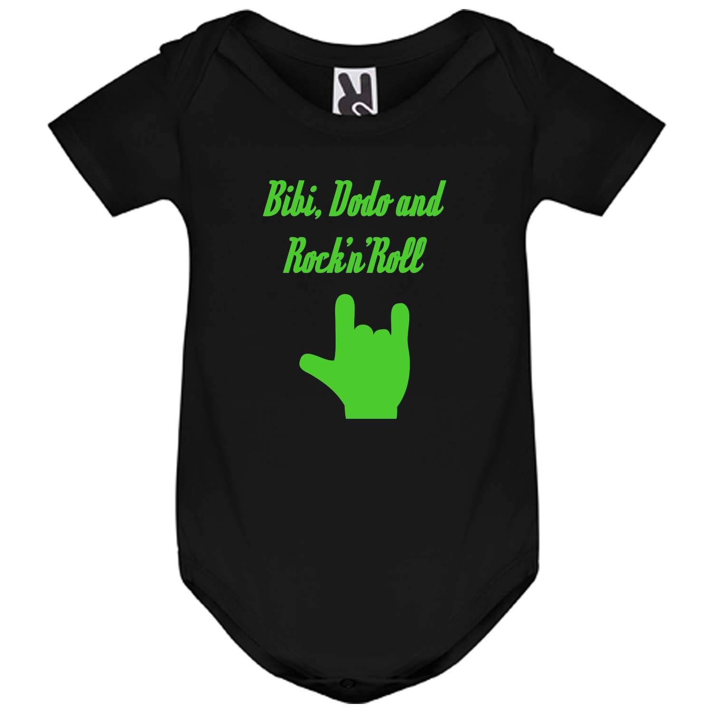 Body Noir B/éb/é Manches Courtes Bibi Dodo and RocknRoll Main Rock YONACREA