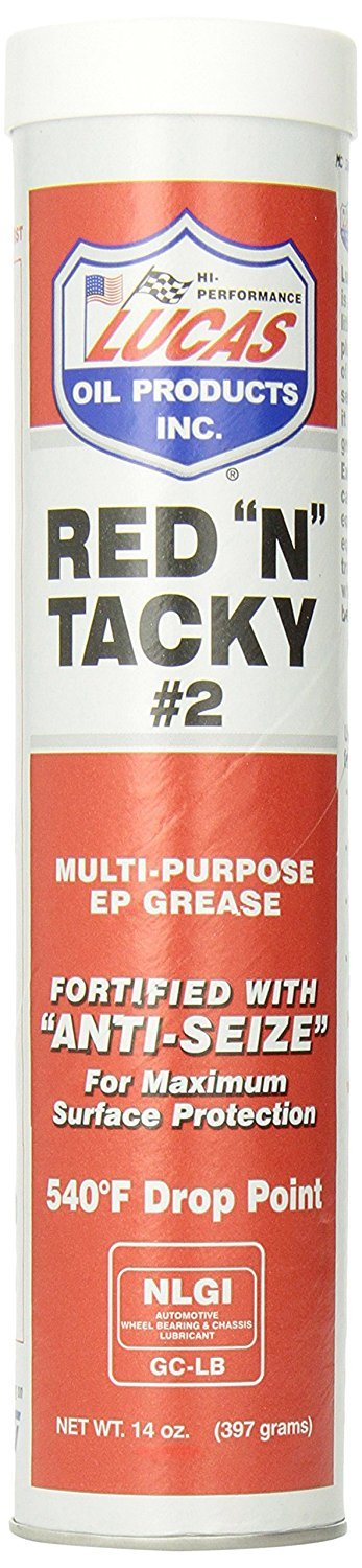 Lucas Oil 10005 Red 'N' Tacky Grease - 14 oz. (Quantity 6)
