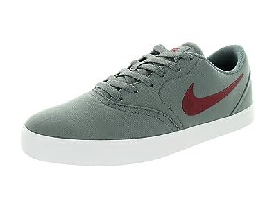 Nike Herren Sb Überprüfen CNVS Skate Schuh, grau - Cool Grey/Team Red/