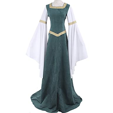 be24e439a4a4 Amazon.com: Women Medieval Costume Renaissance Costume Dress Retro Long Fancy  Dress: Clothing
