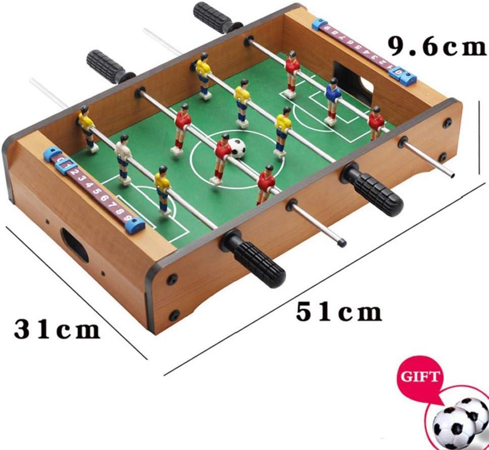 TTIK Futbolín Madera Sobremesa - Mesa Multijuegos Barras telescópicas - Mango de plástico para niños a Partir de 7 años - Barras telescópicas,B: Amazon.es: Deportes y aire libre