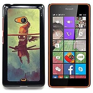 For Microsoft Nokia Lumia 540 N540 - Creepy Flying Smurai Scarecrow /Modelo de la piel protectora de la cubierta del caso/ - Super Marley Shop -