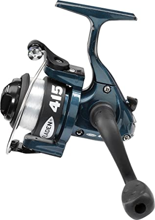 mit Line auf 15/ erh/ältlich in blau, schwarz oder pink 1BB Frontbremse fixierter Spule Spinning Reel /tolle Junior Starter Spule 2,7/kg / Fladen Power 4