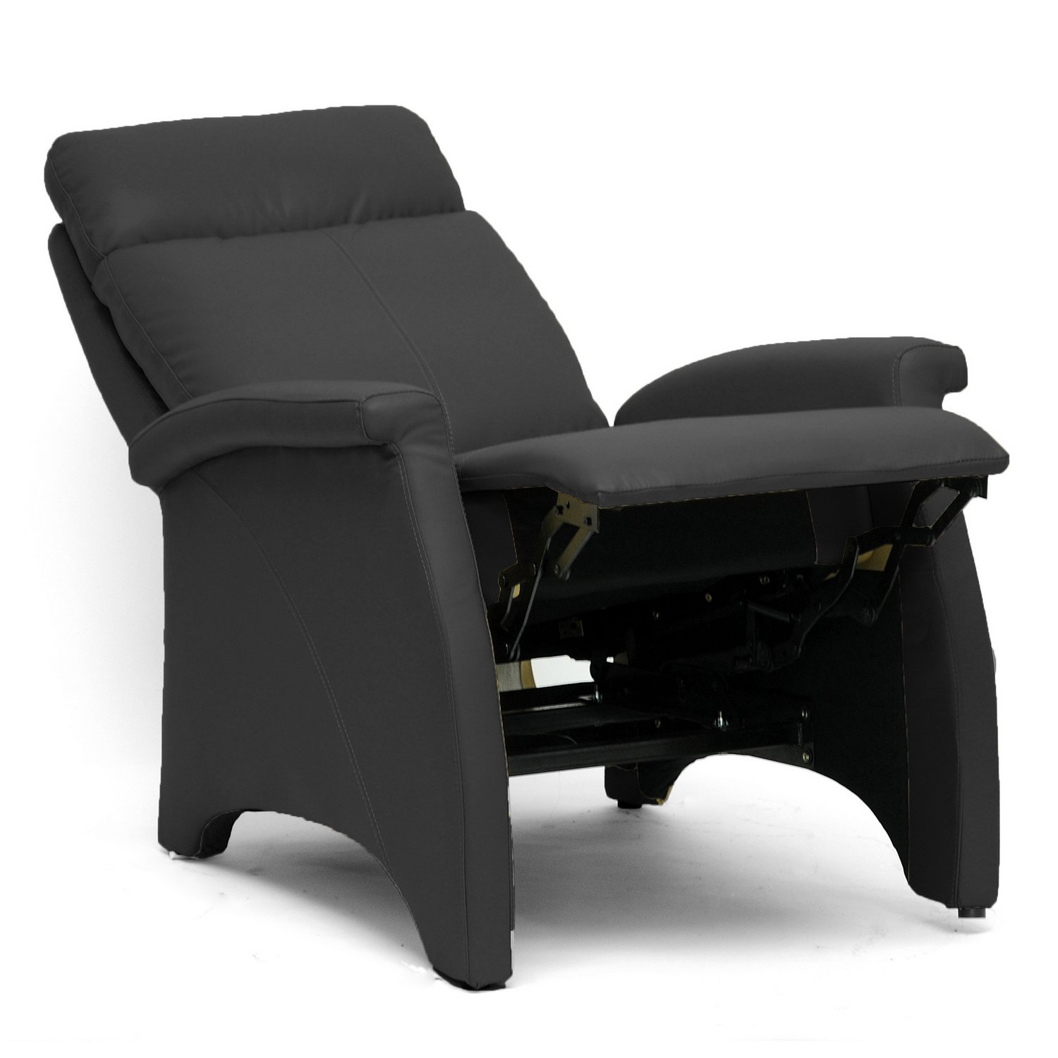 amazoncom baxton studio sequim modern recliner club chair black kitchen u0026 dining