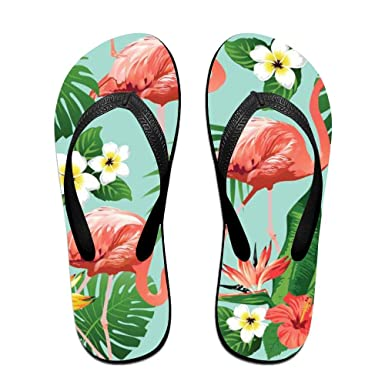 5137d045b122 Amazon.com  Customized Casual Slippers-Pink-Flamingos Flip-Flops For  Man