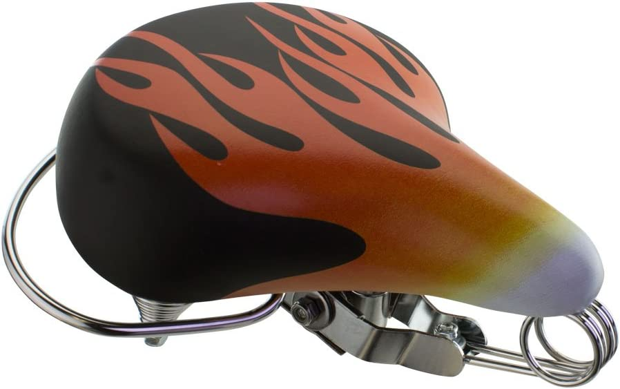 Flame Bicycle Beach Cruiser Seat Rear Rail Bumper Web Spring Bikes