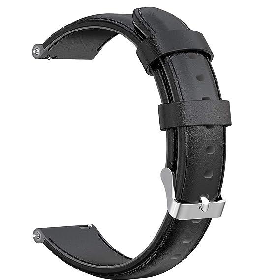 AWADUO - Correa de Repuesto para Nokia Steel HR (20 mm, Piel ...
