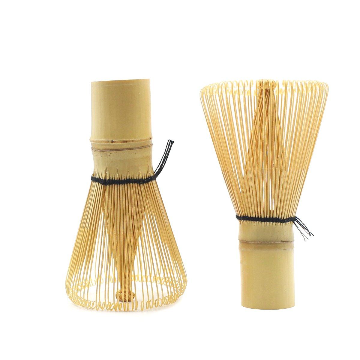 Qulable Bamboo Chasen Matcha Powder Whisk Tool Japanese Tea Ceremony Accessory 60-70 prongs