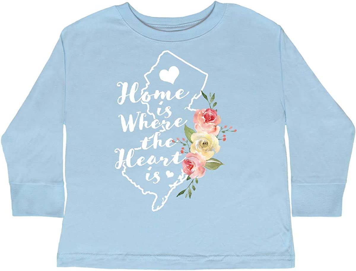 inktastic New Jersey Home is Where The Heart is with Toddler Long Sleeve T-Shirt