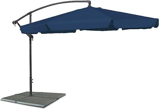 JOM – Sombrilla, sombrilla con 300 cm de diámetro en Azul ...