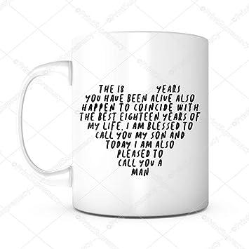 18 Years Old Son Birthday 18th Coffee Mug For BoySon Gift
