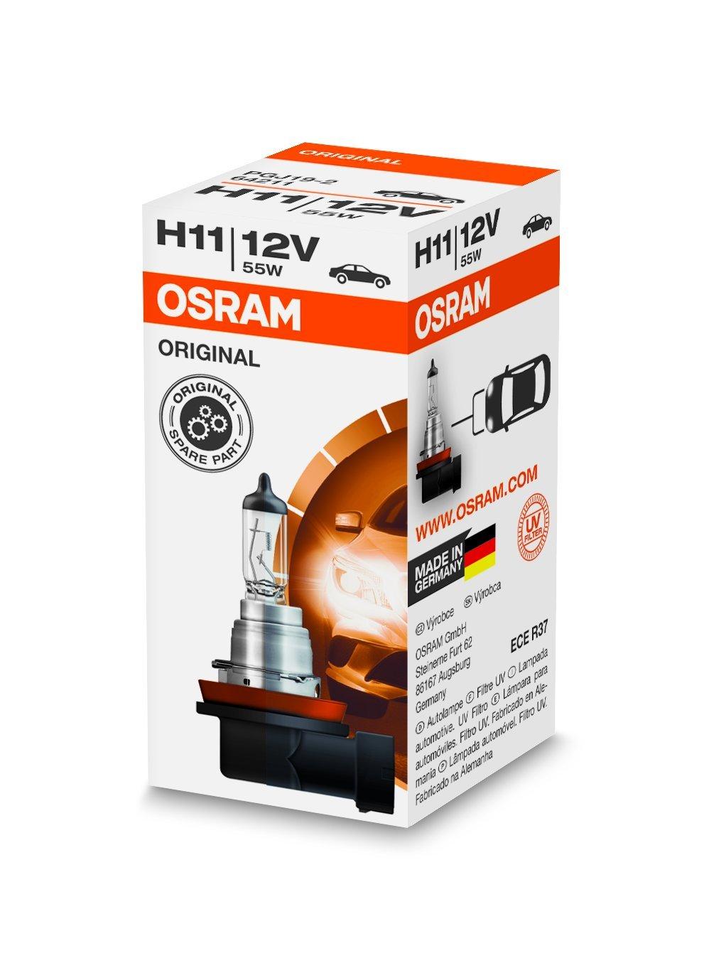 OSRAM Original 12V H11 Lampada alogena per proiettori 64211 - Confezione singola