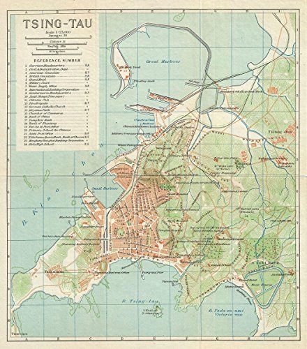 historical-1924-imperial-japanese-railway-antique-map-of-ching-tao-or-qingdao-or-tsingtao-china-20in