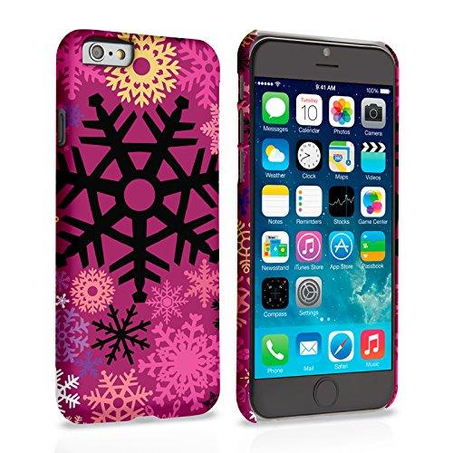 Caseflex iPhone 6 / 6S Hülle Burgund Weihnachten Winter Schneeflocke Hart Schutzhülle