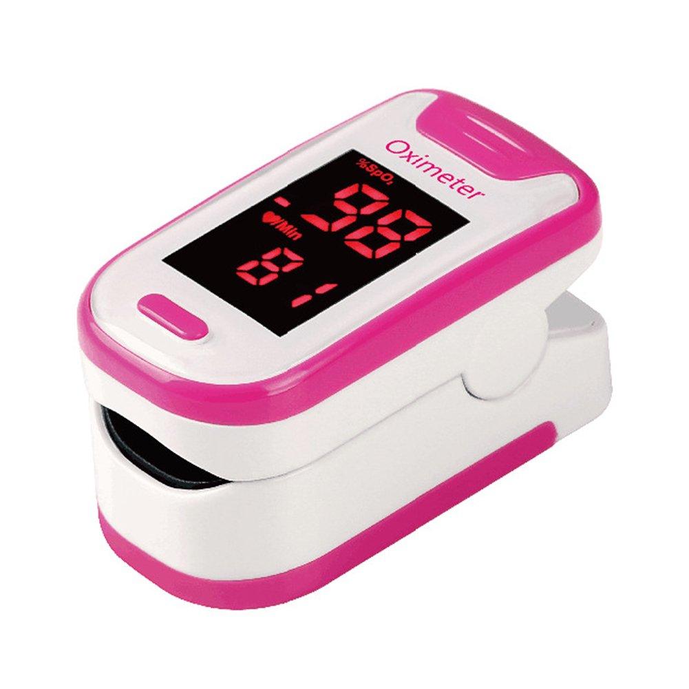 Oximetría de pulso con oxímetro de sangre Monitor de saturación de oxígeno con batería y cordón (rosa): Amazon.es: Deportes y aire libre