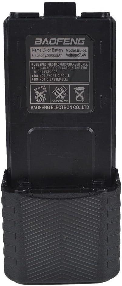 3800mAh 7.4V Extended Li-Ion Battery for Baofeng UV-5R UV5RB UV-5RE Radio