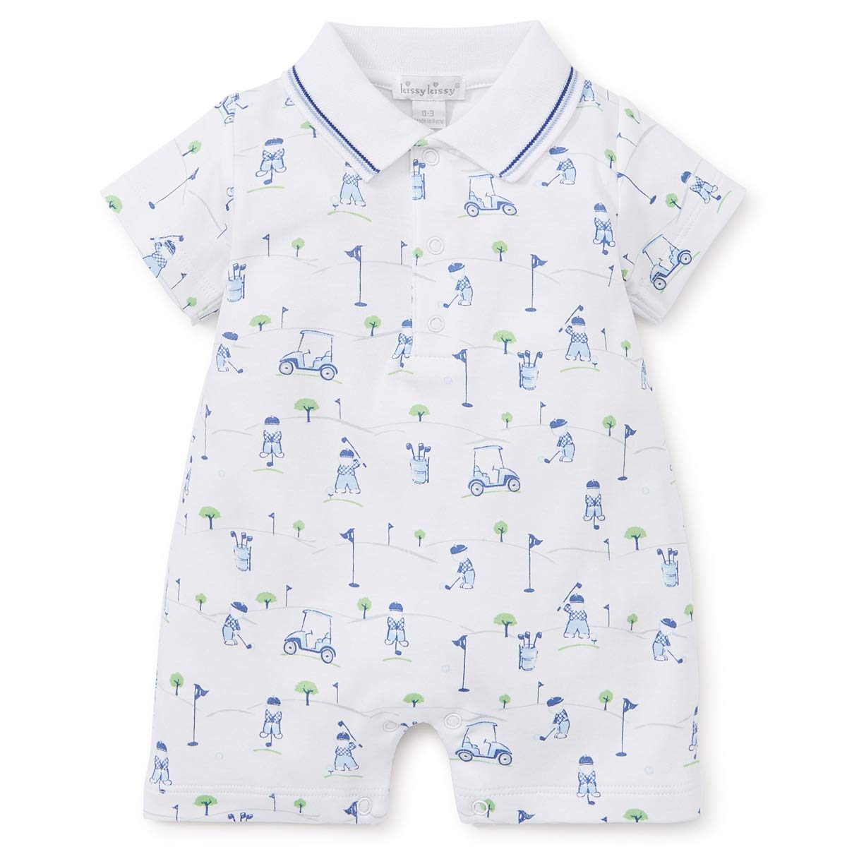 Kissy Kissy Baby-Boys Infant First Tee Print Short Playsuit with Collar KBR01711I