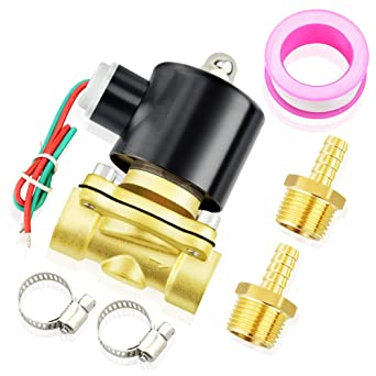 1//4 3//8 1//2 3//4 1 2 Brass Electric Solenoid Valve DC12V DC24V AC220V 110V Normally Closed Solenoid Valve For Water Oil Air