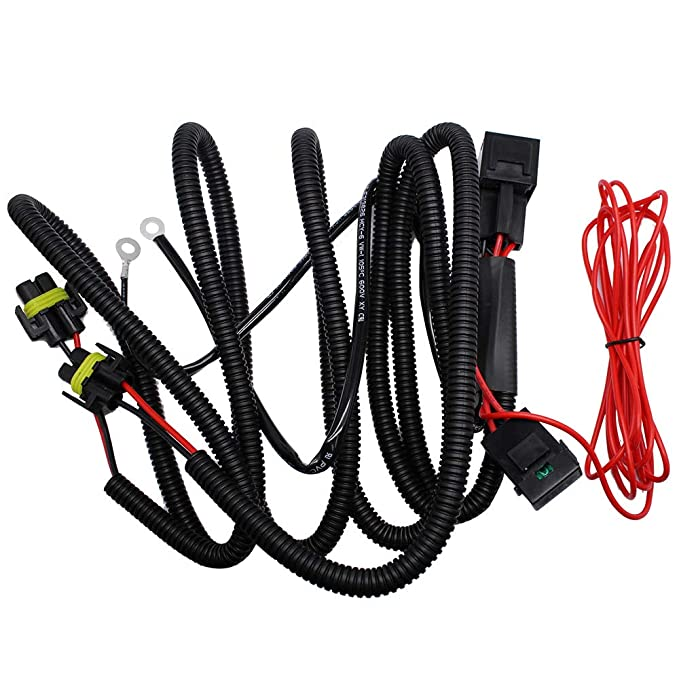 Amazon Huiqiaods H11 880 881 H8 Universal 40a Relay Wiring Harness Kit Fits Led Automotive Fog Light Conversion Assemblies: Honda Led Headlight Wiring At Daniellemon.com