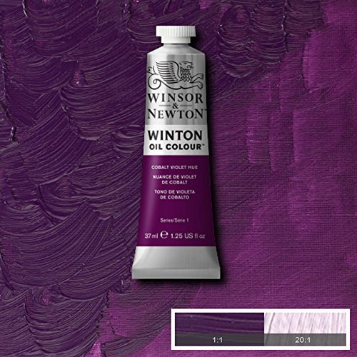 Winsor & Newton Winton Oil Paint Tube Artist Art 37ml & 200ml ALL COLOURS (Cobalt Violet Hue, 200ml) (37 Ml Cobalt Violet)